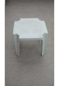 2 Small White Patio Tables