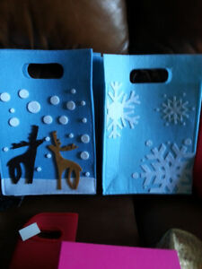 NEW ~ Assorted Christmas Felt Gift Bags