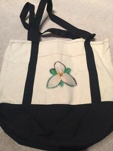 Flower Canvas Tote Strathcona County Edmonton Area image 1