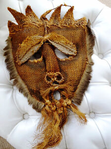 HORNED DEVIL MASK FANGED hand carved wood FABULOUS PIECE vintage Cambridge Kitchener Area image 7