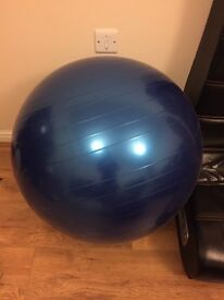 Blue exercise ball