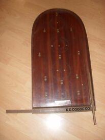 Vintage Bagatelle wooden pinball game