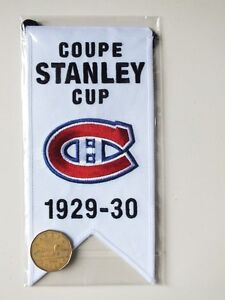 CENTENNIAL STANLEY CUP 1929-30 BANNER MONTREAL CANADIENS HABS Gatineau Ottawa / Gatineau Area image 2