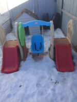 Little tikes hide and seek climber and swing set