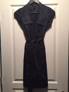 New condition fall dress in navy blue