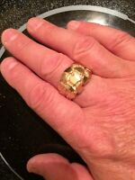 Gents heavy 10 gold ring