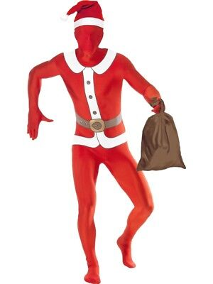 Second Skin Kostüm Stretchanzug Nikolaus Santa Kostüm