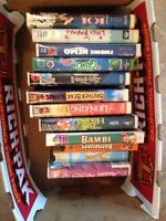 12 VHS movies