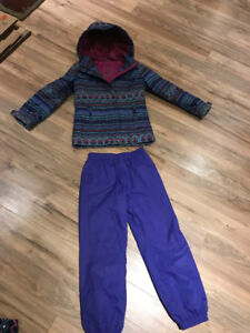 Girls Winter Coat and Slush Pants - Size 6/7