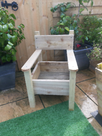 Garden chair planter