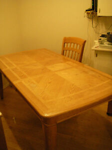 MOVING SALE!! OAK table, chairs, china cabinet $500 OBO