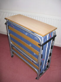 Z Bed, space saving, folding single bed, as new
