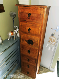 Solid wood mexican tall drawer chest