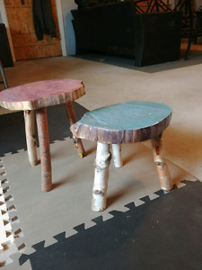 Primitive Eco Friendly Side Tables or Plant Stands