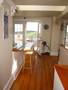 Amazing views of Lunenburg Harbour in loft style apartment