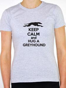 Greyhound T Shirts Rescue KEEP CALM AND HUG A GR...