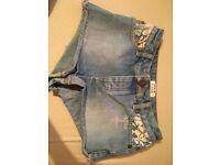 Miss Selfridge denim shorts - size 4.