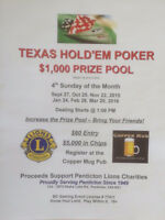 TEXAS HOLD'EM $1000 PRIZE POOL