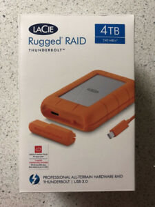Lacie Rugged Raid Thunderbolt 4TB External Hard drive for sale