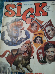 Sick and Cracked magazines   (1970s) seven issues