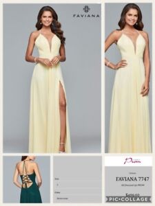 Gorgeous yellow evening gowns for sale