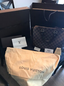 Authentic Louis Vuitton Speedy 30 in Damier Ebene