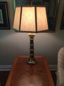 "31 1/2"" Brass Table Lamp"