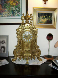SOLID BRASS MANTLE CLOCK