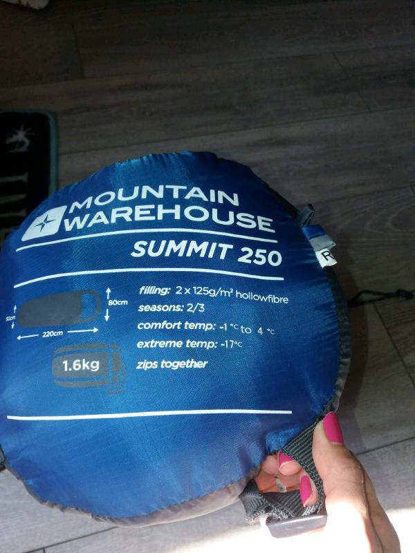 wholesale dealer 20a39 86201 Mountain Warehouse Summit 250 sleeping bag | in Maidstone, Kent | Gumtree
