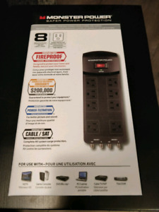 Monster Power Bar, 8 outlets, surge protector