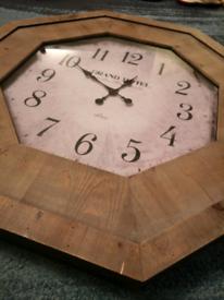 Large wood wall clock