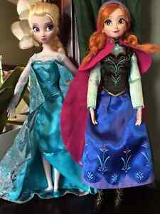 Elsa and Anna from Frozen, Barbie dolls Cambridge Kitchener Area image 1
