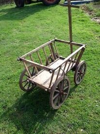 Wooden dog cart