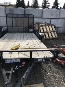 12 foot flat bed utility trailer