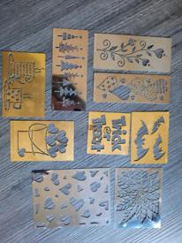 9 Used Dreamweaver & Lasting Impressions Stencils