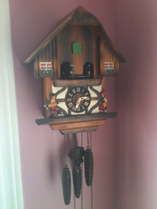 Ornate Cuckoo Clock with Music Box