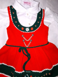 Cute Holiday Christmas Elf? Vintage Jumper Dress 12/18mts,EUC