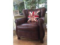 Tetrad Sheriden leather wingback armchair