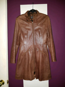 Women's Leather trench coat s/m