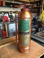Antique fire extinguisher.