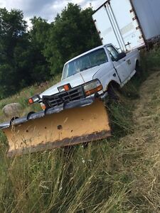 Ford plow truck