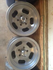 "Mopar / Ford 14"" slot rims set of 4 14x7"