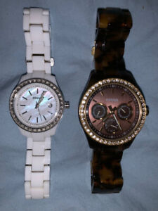 Women's Casual White Marble/Tortoise Shell Fossil watch