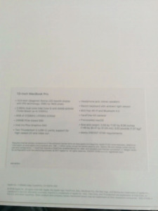 Macbook Pro 13 in. 2018  256 gb i5 BNIB