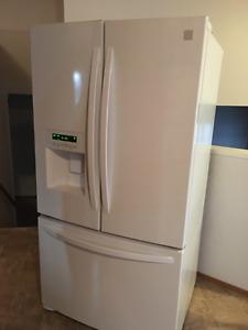 Kenmore white 3 door bottom freezer fridge - can deliver