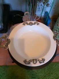 Large white bowle