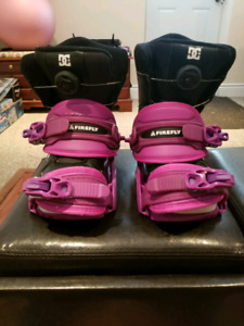 Girls snowboard buildings/ youth boa DC boots