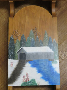 Tole Hand Painted Sled