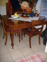 Beautiful antique 1927 Gibbard solid walnut dining set