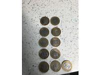 Rare 2 pound coins